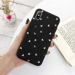 Coque en silicone pour iPhone - Coque arrière - Love Hearts