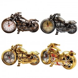Vintage motorcycle with clock