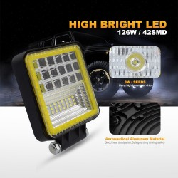 Led Lights - 72W - 126W - Truck - ATV - Light Bar