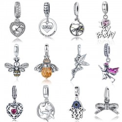 925 sterling silver - pendant charms for bracelets & necklaces - 61 styles