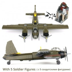 Military Ju-88 bombing plane - building block set - 559pcs - children
