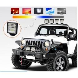 Barre LED - lampe spot pour voitures tout-terrain - tracteurs - SUV - camions - 72W - 126W / 12V - 24V