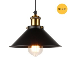 Pendant light - vintage - gold - black