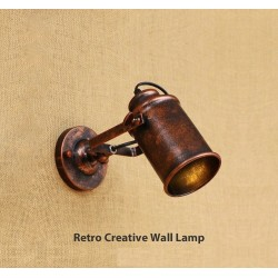 Retro creative wall light - lamp - adjustable - single - double head