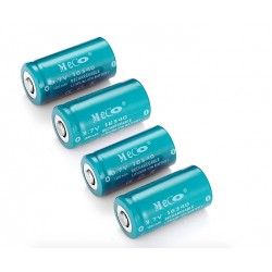 MECO 3.7v 1200mAh Rechargeable CR123A/16340 Li-ion Battery 4PCS*