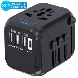 Universal travel adapter - uk/eu/au/asia - baby safe design