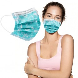 10 - 20 - 30 - 50 pieces - disposable antibacterial medical face mask - mouth mask - 3-layer - unisex - butterflies