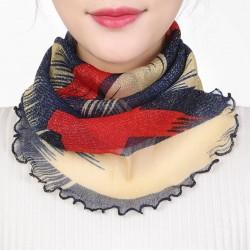 Neck collar scarf - women - silk - anti uv - mask