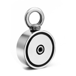 D48 - D60 - D67 - D75 - strong neodymium magnet with hook - double side search - D60 * 22mm