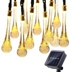 6M 30LED solar bulb - lamp - multi colour - 4m