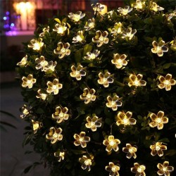 5m - 7m - 12m - 22m - Solar - LED - Lichterketten - Weihnachtsdekoration - Blumen