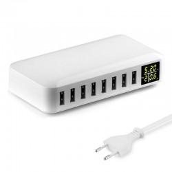 40W - Chargeur intelligent - multi-port - 8 USB - 5V 8A - LED