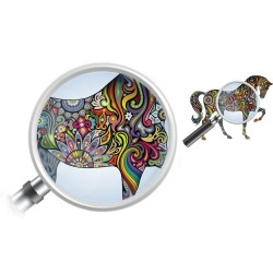 Colourful horse - wall sticker - vinyl mural art