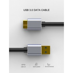Micro B USB - 3.0 Cable - 5Gbps - External Hard Drive Cable