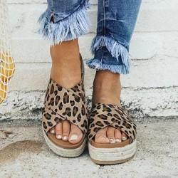 Sandales d'été - tongs plates-formes souples