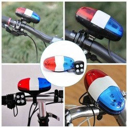 Bicycle Accessories - 6 LEDs - 4 Tone Sounds - Bell - Electronic Horn - Siren for Kids