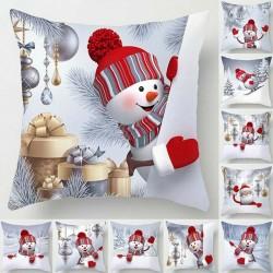 Christmas snowman - pillowcase cushion cover - 45 * 45 cm