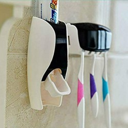 Automatic toothpaste dispenser - toothbrush holder - bathroom accessories