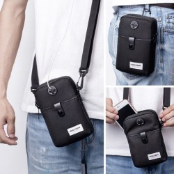 Messenger bag - phone pocket - small flap - black - blue- green