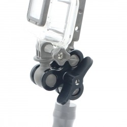 Aluminum - Arm Ball - Butterfly Clip - Gopro 5 6 Camera