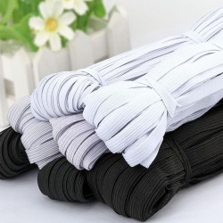 3/6/8/10MM - White/black - Flat Elastic Bands - DIY sewing
