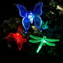 Solar - LED - outdoor / garden decorative light - butterfly - dragonfly - bird