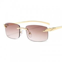 Rectangle sunglasses - rimless - UV400