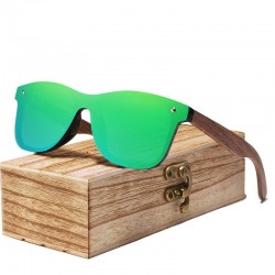 Polarized sunglasses - walnut wood - UV400 - unisex