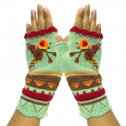 Knitted - Half-finger - Winter Gloves