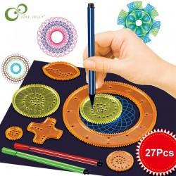 Spirograph Drawing - 22pcs - Toy Set