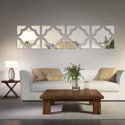 Nowoczesne lustro akrylowe 3D - naklejka na ścianę