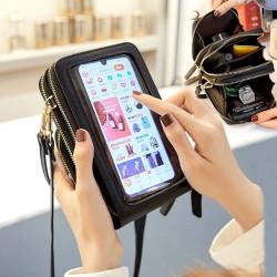 Cell Phone Pocket - Shoulder Bags - Leather