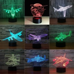 Air Plane Lamp - 3D Light - LED - 7 Colors