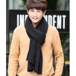 Warm cotton men's scarf