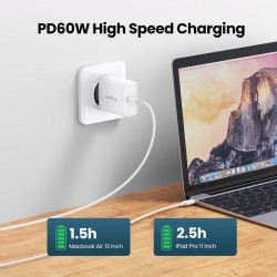 PD - 60W - Type-C - Cable QC - Fast Charge