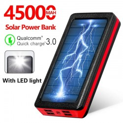 Solar - Portable - Power Bank - 45000mAh - LED Light