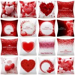 Czerwone serduszka - Walentynki - poszewka na poduszkę - 45 * 45 cm