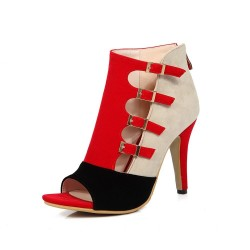 Women - spring - high heels - red - black- blue