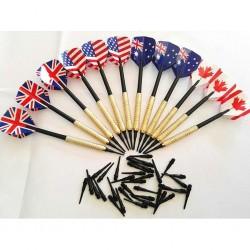 Soft tip darts set - plastic tips - 12pcs