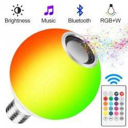 12W - E27 - RGB - żarówka LED z głośnikiem Bluetooth - pilot