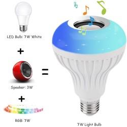 E27 - LED - RGB - głośnik Bluetooth - żarówka muzyczna z pilotem
