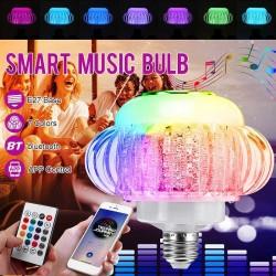 E27 110V-220V 6W - bezprzewodowy głośnik Bluetooth - żarówka LED RGB z pilotem