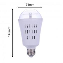AC110-240V E27 4W - LED - snowflakes pattern - rotatable bulb - projector - lamp - RGB