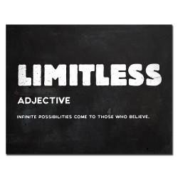 LIMITLESS - inspirujący cytat - plakat na ścianę - płótno