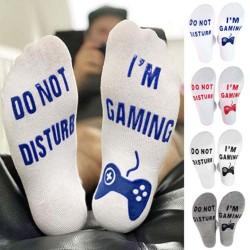 Do Not Disturb I'm Gaming / 2021 Will Be Better - funny socks - unisex