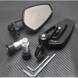 Universal aluminum motorcycle bar-end mirrors