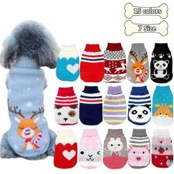 Winter sweater for dogs / cats - cartoon design