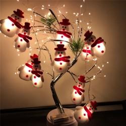Sznurek z bałwankami - ozdobne lampki choinkowe LED