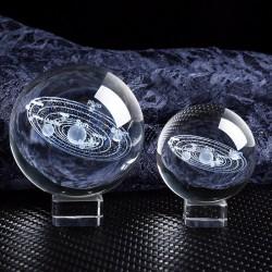 Figurki słoneczne - model planet 3D - kryształowa kula - dekoracja biurka