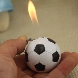 Football shaped cigarette lighter - keychain